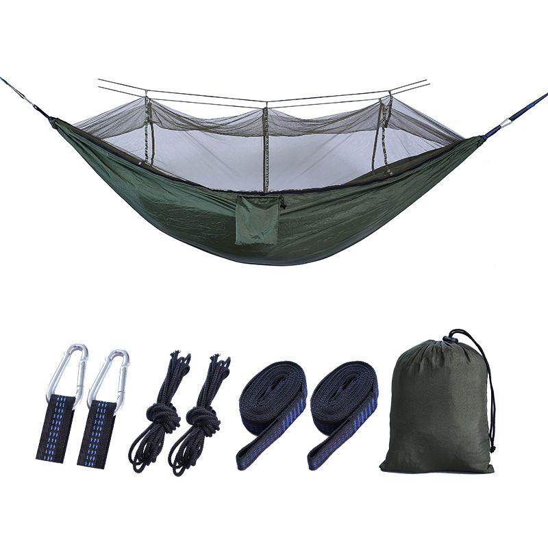 Outdoor 210T Nylon Camping Hammock removível Mosquito Hammock líquido Camping Viagem Dormir ASD88