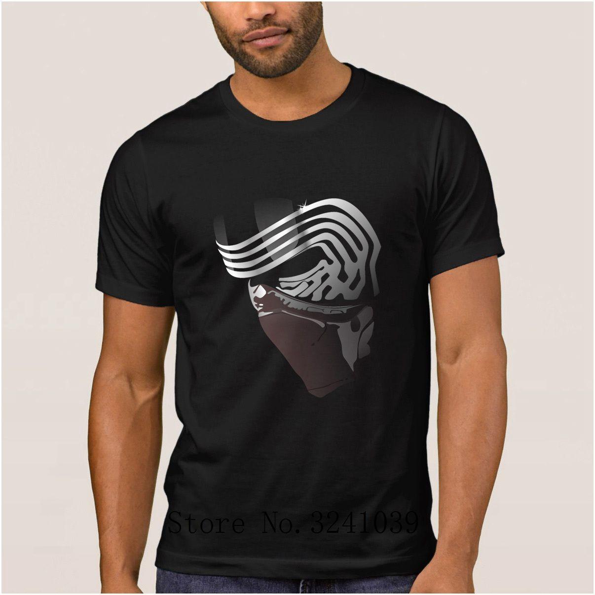 Новый дизайн повседневная Kylo Ren футболка против морщин последняя маска Kylo Ren футболка мужская новинка футболка большой короткий рукав
