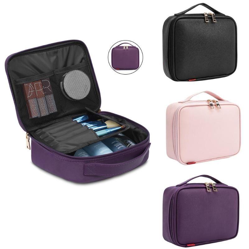 Женская Oxford Cosmetic Bag Простой большой емкости для хранения сумка Портативный Косметические сумки Простой Сплошной цвет Женщина MakeUp Case 2019