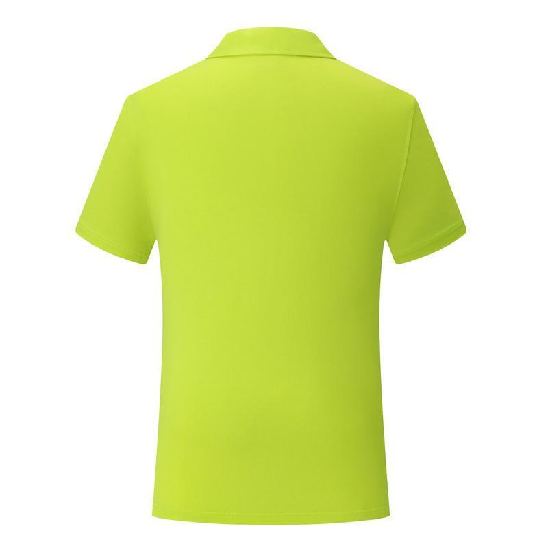 Meyve Yeşil kısa kollu tişört SD-cf-22 Yeni erkek ve kadınlar İngiliz rüzgar düz pamuk spandex pamuklu polo yaka