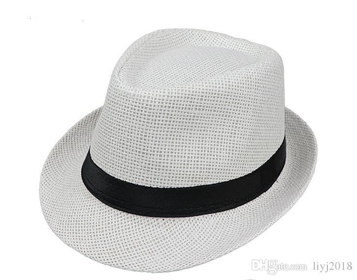 Monofilament straw hat solid color parent-child paper grass shade summer and autumn sun hat outdoor beach straw hat England