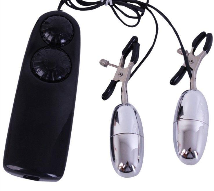Quality Nipple Clip electronic vibrating Breast Flirt BDSM Bondage Sex Toys Nipple Clamps Women Clamp