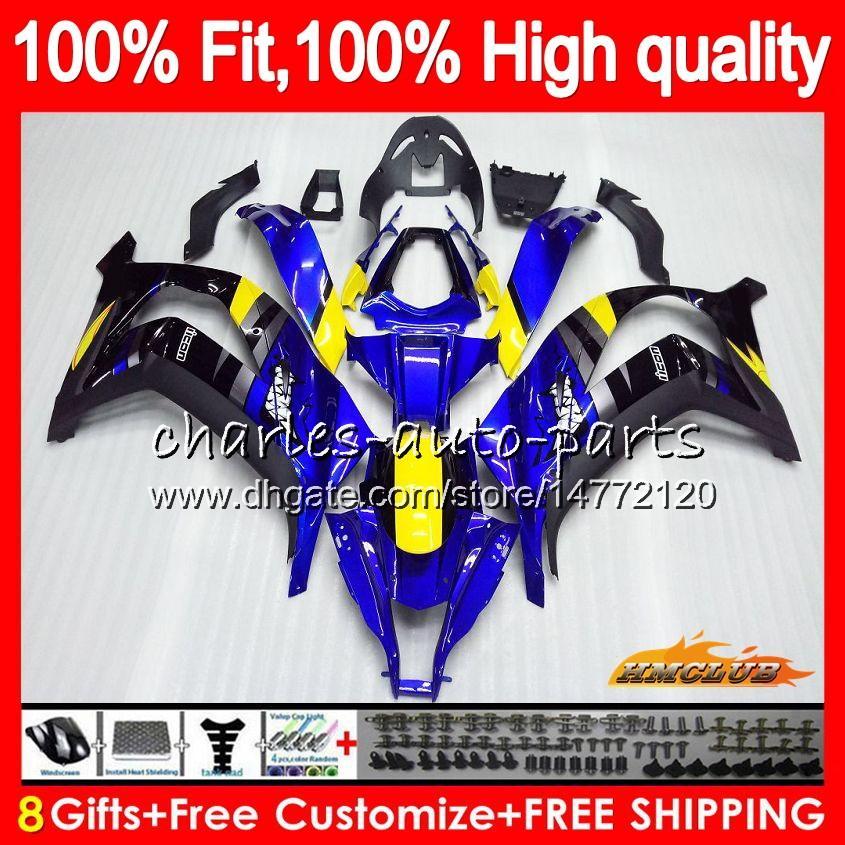Injektion för Kawasaki ZX 10 R ZX1000 C Blått svart Ny ZX10R 11 12 13 14 15 AAHC.2ZX 10R 1000CC ZX-10R 2011 2012 2013 2014 2015 OEM FAIRING