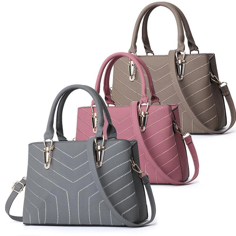 Designer-borse per le donne signore grande Designer Shoulder Bag benna moda borsa grande capienza Khaki Nero Top-maniglia Borse