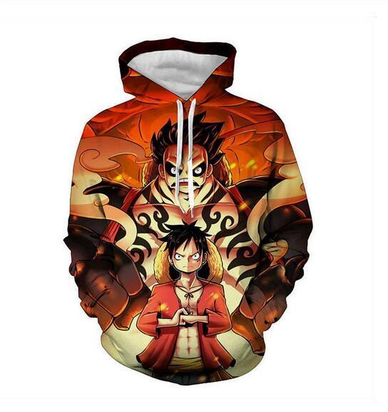 Mens Designer Hoodies für Frauen Männer Paare Sweatshirt Lovers 3d Anime One Piece Hoodies Coats Hoodies Tees Kleidung