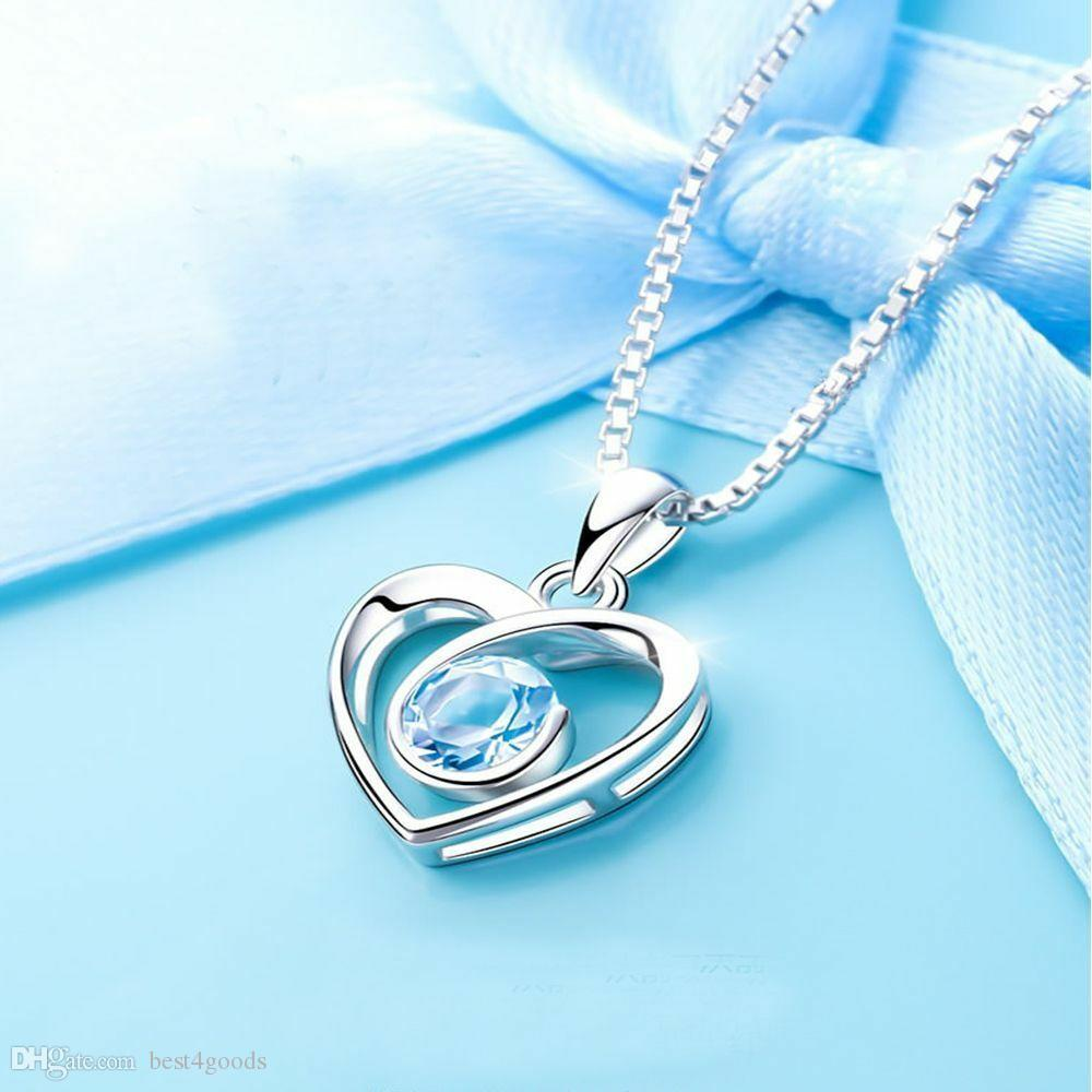 Wholesale Hollow Heart Shape Pendant Necklace With High Grade Blue Pink Crystal Zircon Small Cute Necklace For Girlfriend Gift Pendant Necklaces Diamond Pendant From Best4goods 0 83 Dhgate Com