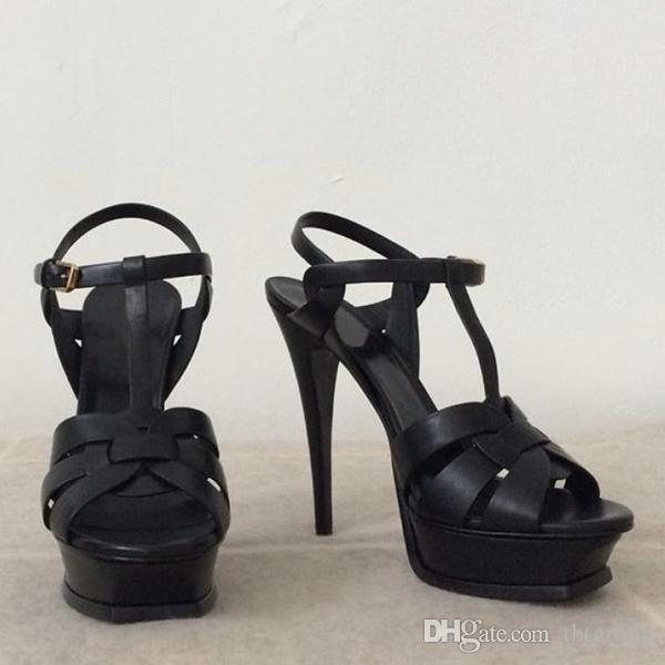 النساء الفاخرة مصمم الصنادل تحية منصة الصنادل ر حزام عالية الكعب الصنادل سيدة أحذية حزب أحذية 10 سنتيمتر 14 سنتيمتر مع مربع لنا 4-11