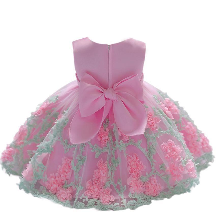 Muqgew Infantil Linda Princesa Partido Vestido De Noite Vestido Formal Para Recém-nascidos Vestido de Festa de Aniversário #xt Y19061101