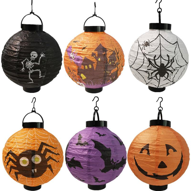 LED iluminado mão mão lanterna halloween festa decorações assombradas casa bar horrível atmosfera adereços lanternas de abóbora luminosas