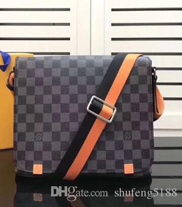 Beliebte europäische mode herren leder buchstaben business schulter cross body messenger bags männer casual handtasche 41208