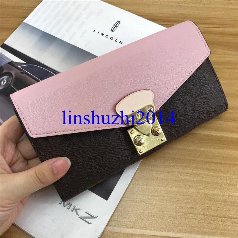 Mode de haute qualité Portefeuille en cuir de luxe Porte-monnaie Femmes Portefeuilles Porte-cartes Portefeuilles célèbre