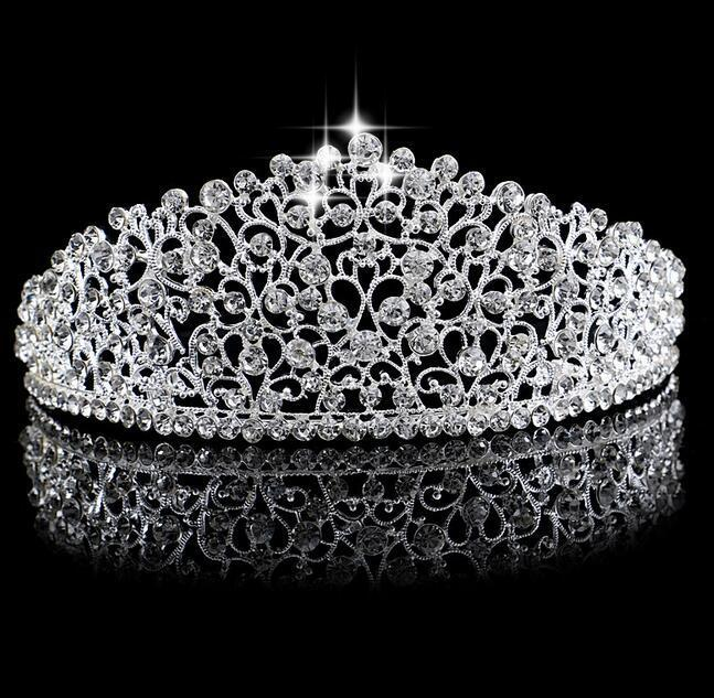 Brautkrone BrautTiara Kristallen Hochzeit Kronprinzessin Big voller Luxus Crownheadband Haarschmuck-Partei-Hochzeit Tiara Ht137
