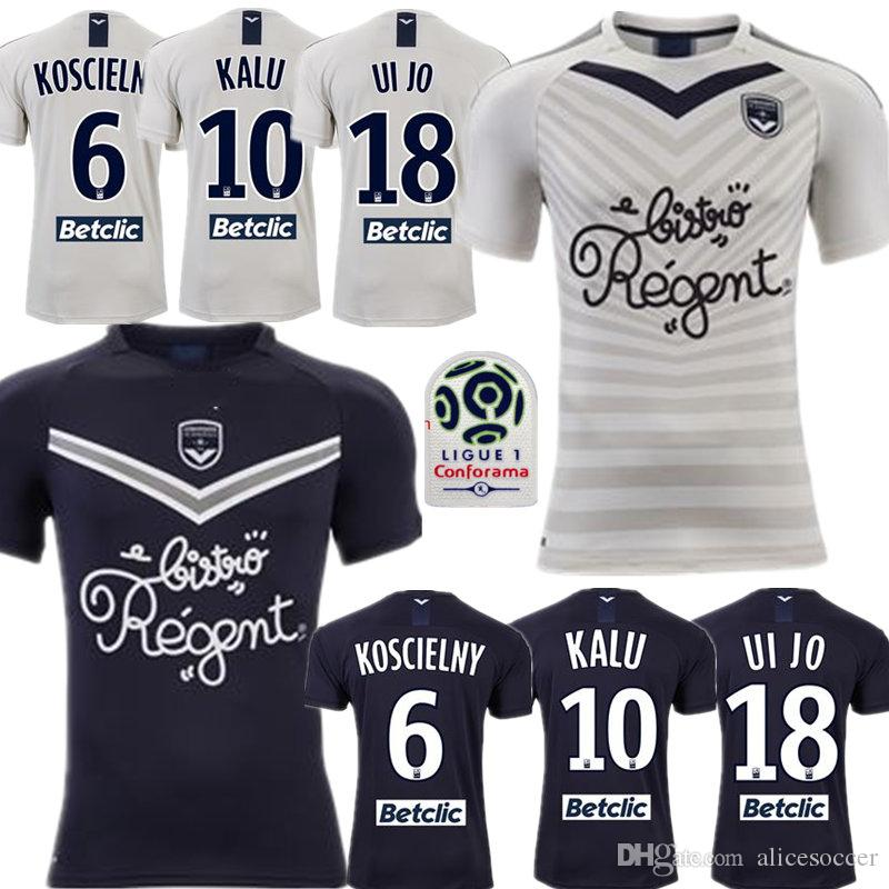 Uomini + bambini 2019 20 Girondins de Bordeaux Maglia Calcio Maglia piede BRIAND S.KALU Kamano ui jo BENITO de Préville BASE pullover di calcio