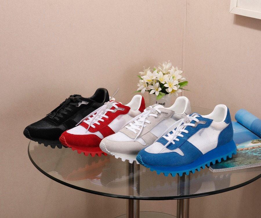 Homens sapatos casuais moda show runner tênis Genuine homens de couro sapatos femininos sapatos desportivos tamanho 44 logotipo original com caixa