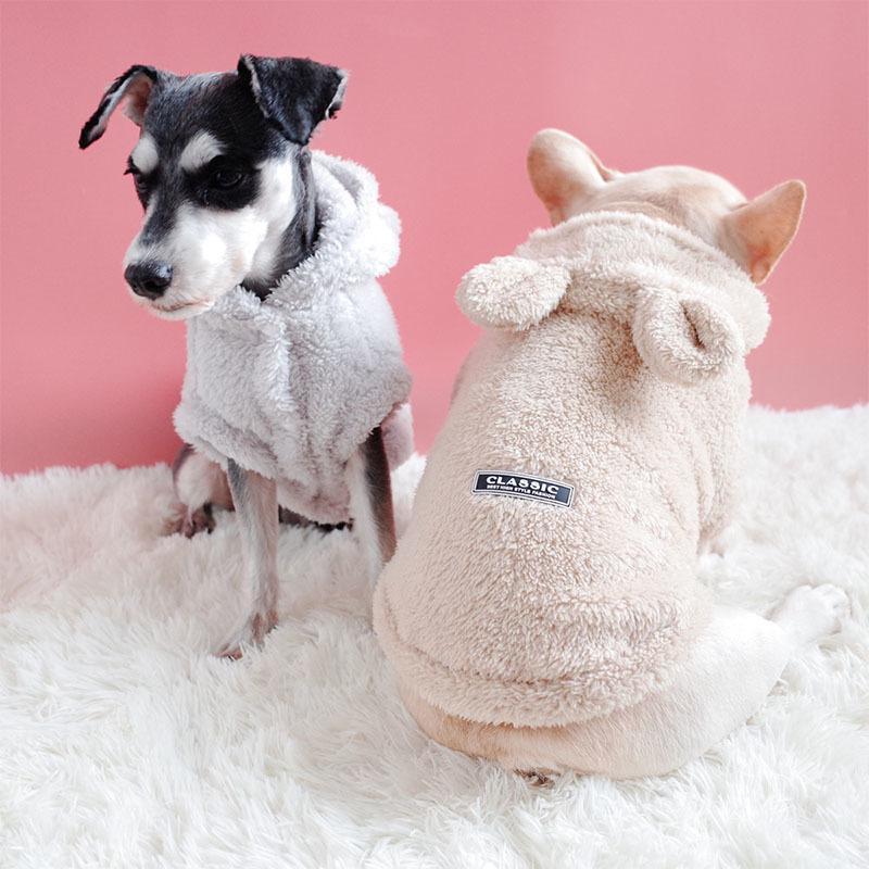 2018 Nouveau Hiver chaud Vêtements pour chiens pour petits chiens pour Chihuahua Épaississement manteau chiot hoodies de veste pour Yorkshire Pet Costume XXL T200101