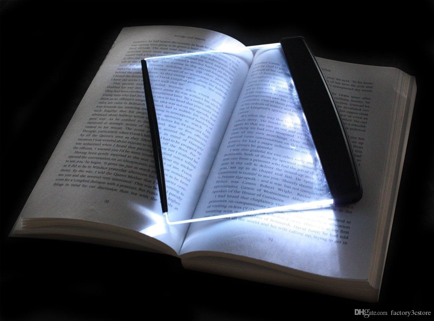 Magic Night Vision Book Light Led Reading Book Flat Plate Portable Car Travel Panel Reading Light Protect Eyes