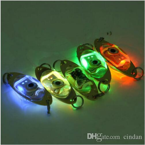 1pc 야외 낚시 빛 6cm / 2.4 인치 플래시 램프 LED 깊은 드롭 수 중 눈 모양 낚시 오징어 물고기 미끼 빛