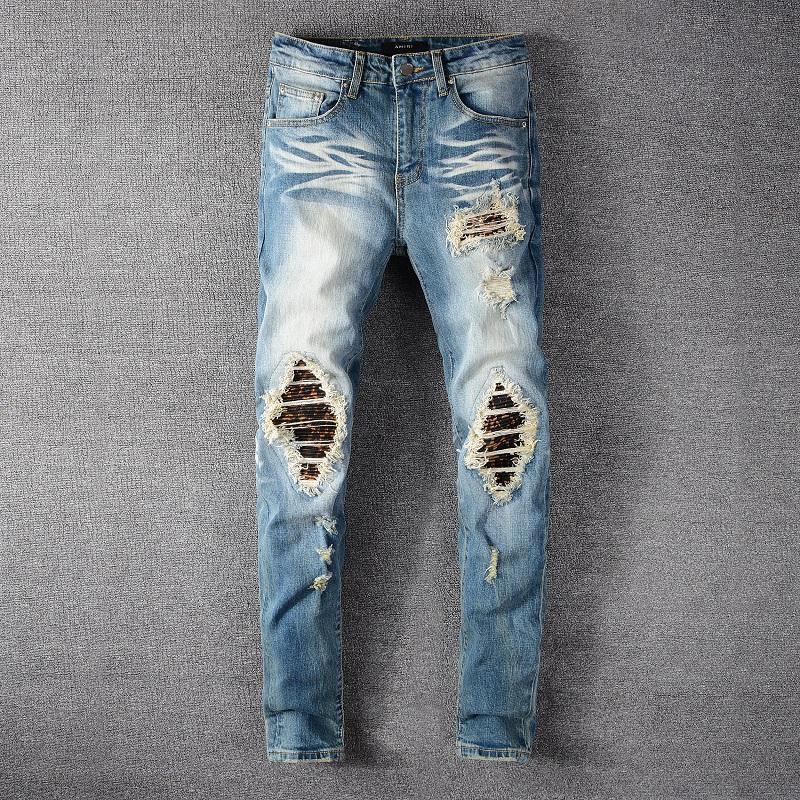 Erkekler Jeans 2020 Moda Yeni High Street Trendy Jeans Sıkıntılı İnce Punk Gençlik Pantolon Fermuar İnce Pantolon Ripped