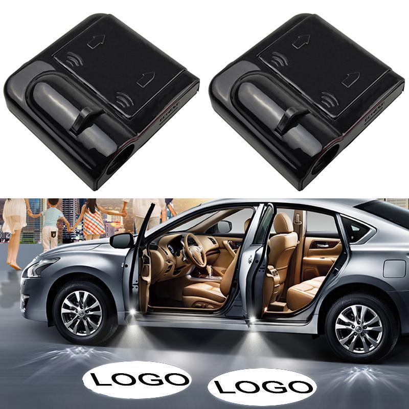 2шт Led автомобильная дверь Добро пожаловать лазерный проектор логотип призрак тень свет беспроводной стайлинг автомобиля дверь любезно лампа автомобильные аксессуары