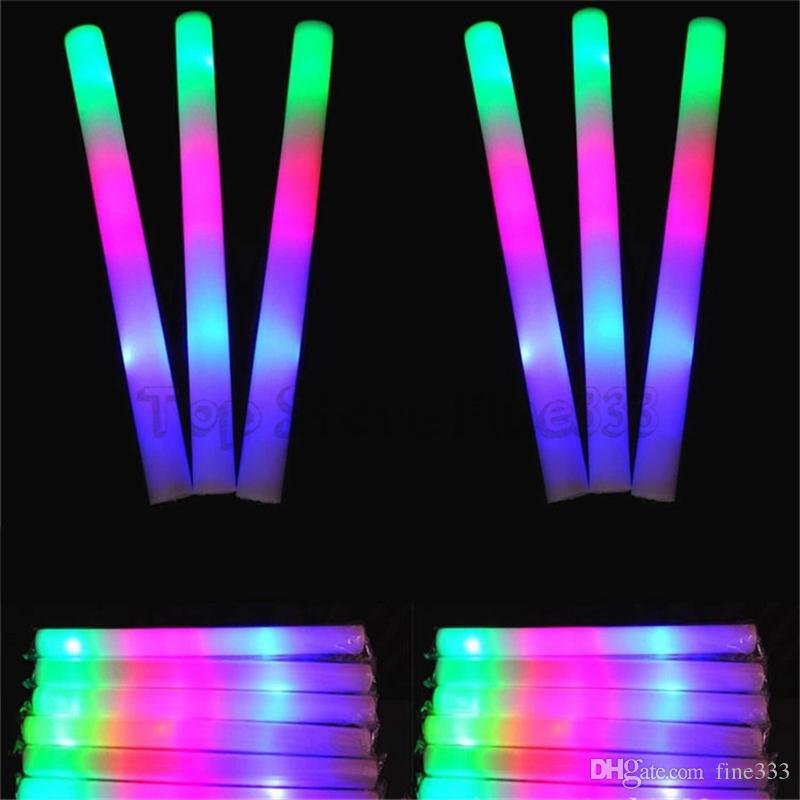 LED 다채로운 막대 주도 거품 스틱 깜박이 거품 스틱, 빛 응원 글로우 거품 스틱 콘서트 빛 스틱 EMS C1325