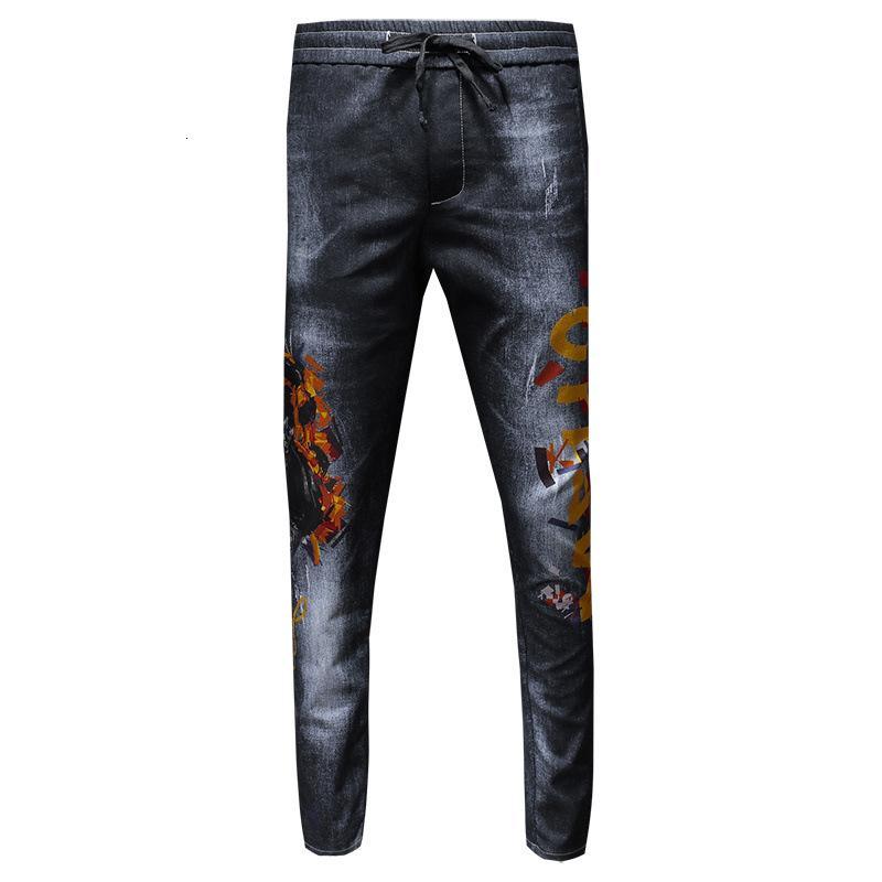 Hommes Jeans cordonnet Impression exquis et qualité parfaite Pantalon droit clair Style lavage