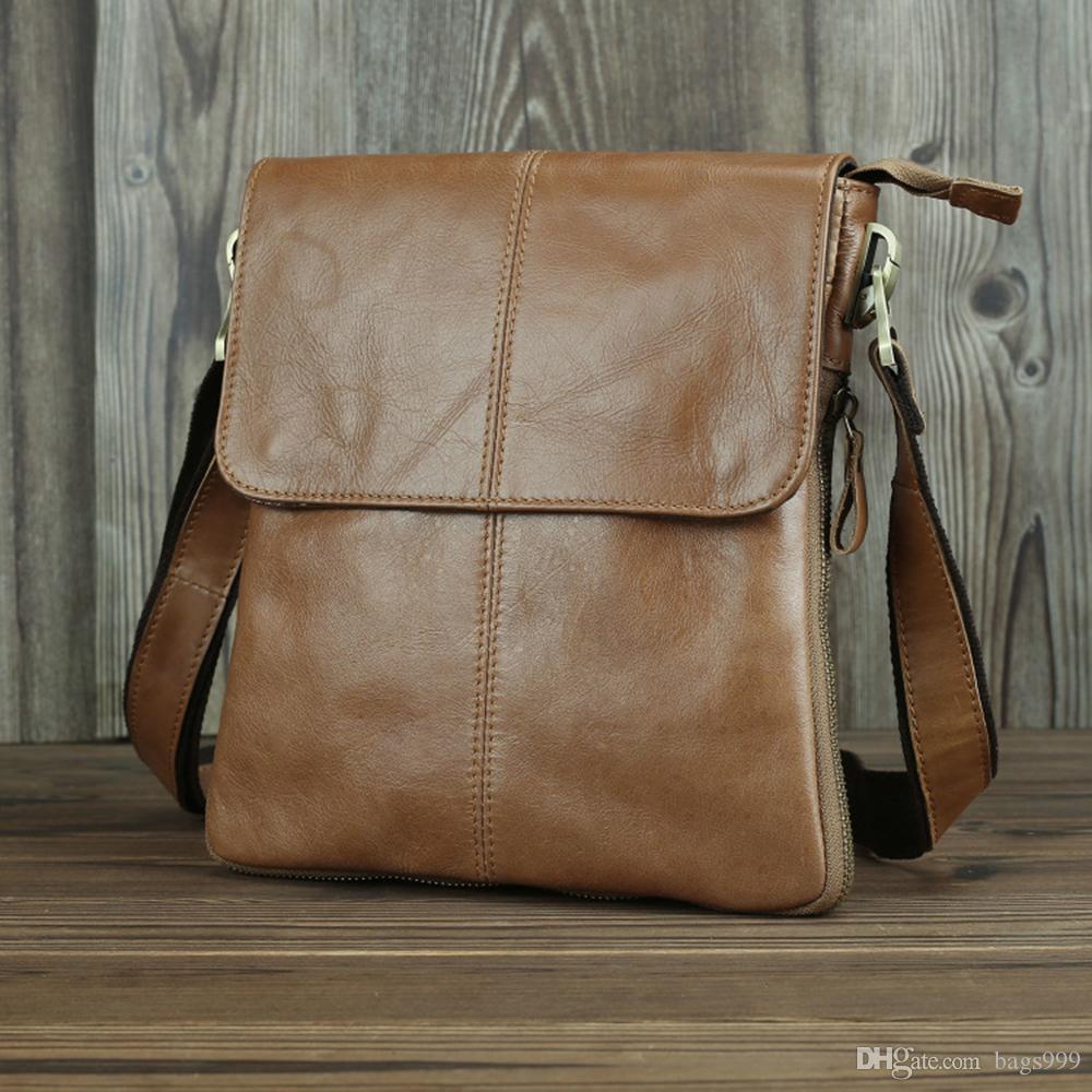 Mens Leather Crossbody Messenger Shoulder Bag Laptop Tote Purse Wallet Handbag