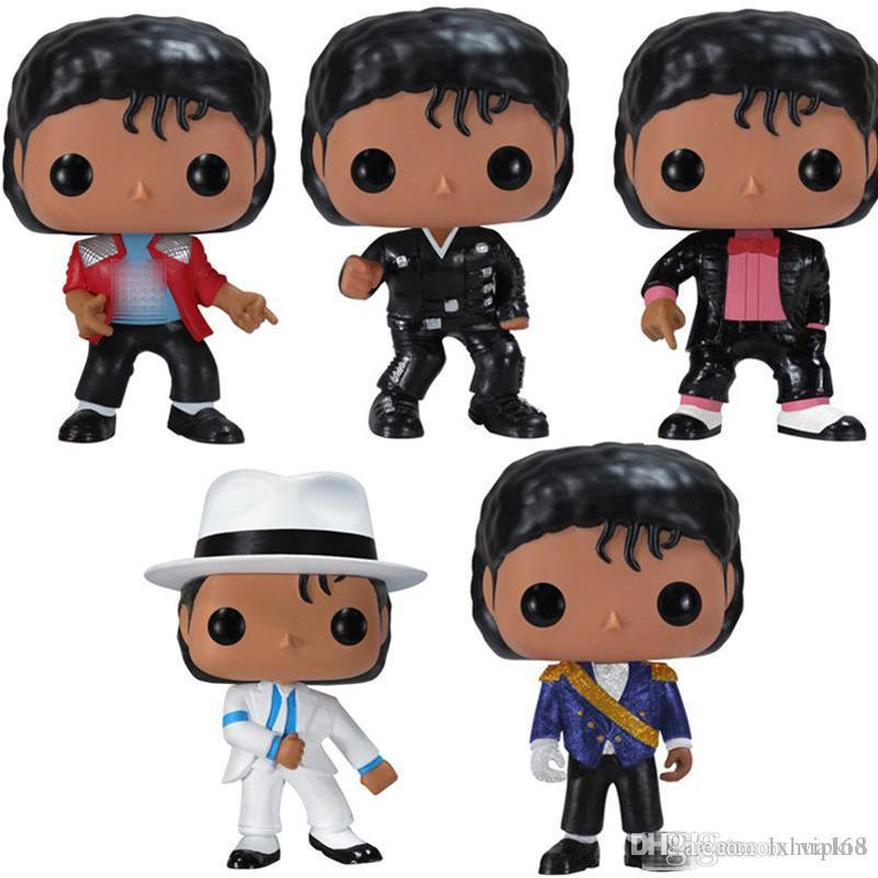 Düşük fiyat Funko POP MICHAEL JACKSON BEAT IT Billie Jean KÖTÜ SM00TH CEZA Çocuk Doğum hediyesi için Koleksiyon Modeli Oyuncak Şekil