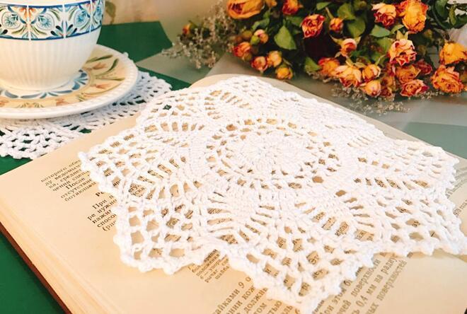 Dentelle coton main napperon boisson tasse de café coaster tasse de thé cuisine Table lieu tissu mat Crochet de Noël à manger napperon pad