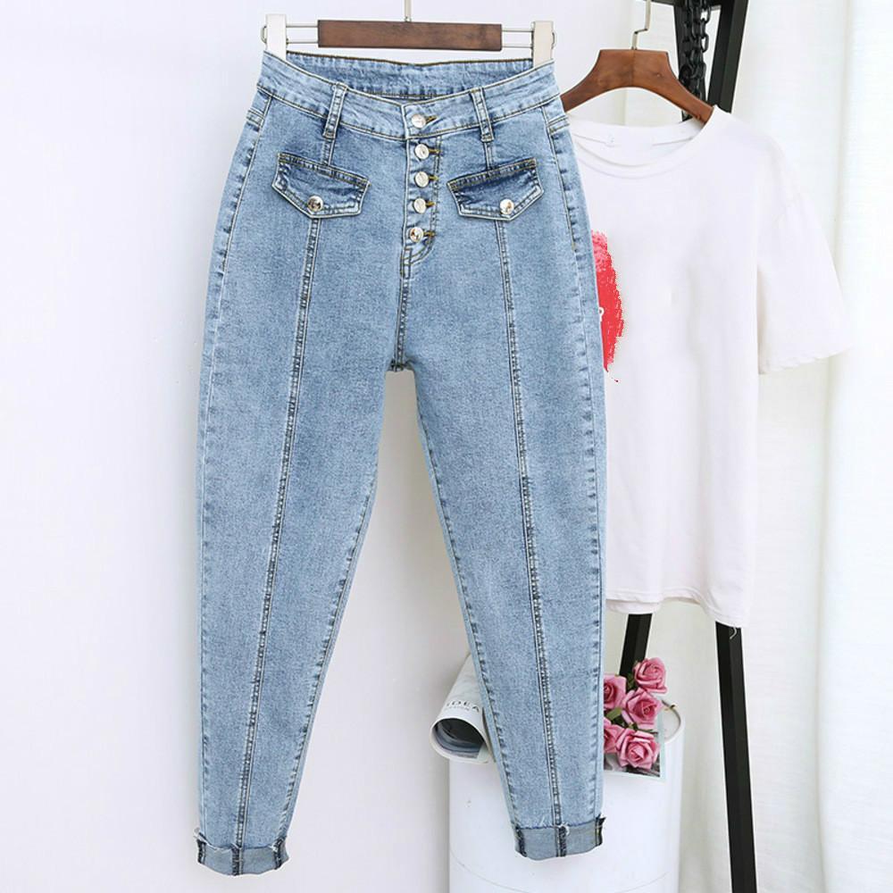 2019 estate fidanzato Harem denim Pantaloni Moda alte donne della vita autunno femminile mamma Jeans Pantalones Mujer Plus Size 5XL
