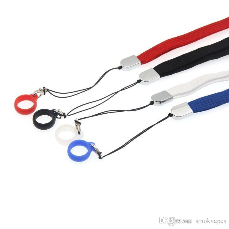 Новое красочного Lanyard Силиконового Fixed пальца кольца Rope Портативное Удобство для Vape Pen EVOD EGO E-сигаретного Pod Heat-не-Burn Hot Sale