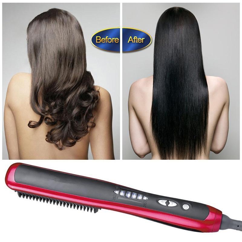 متعدد الوظائف الشعر مشط فرشاة اللحية فرد الشعر مستقيم بكرة الشعر استقامة مشط الشعر السريع الطراز للنساء رجال