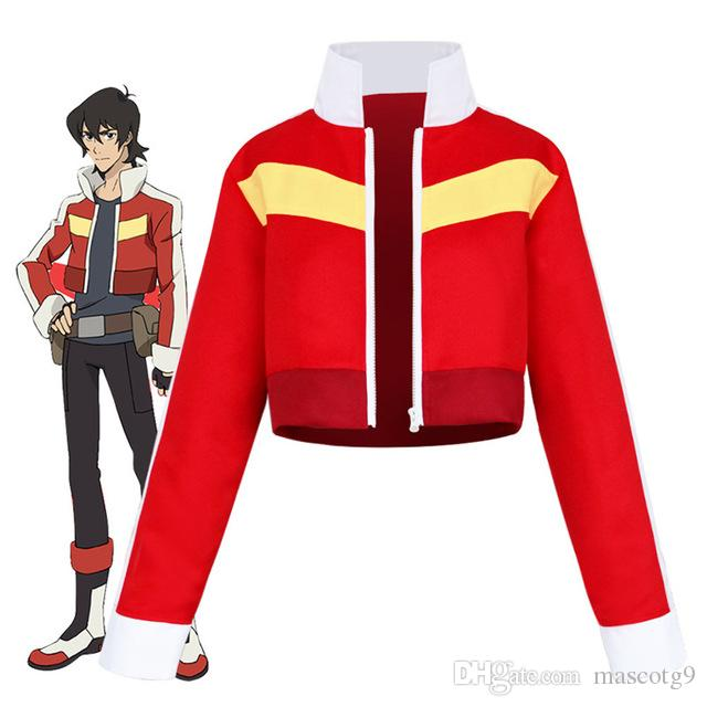 nuovo Voltron: Legendary Defender Keith Red Jacket per donna uomo Halloween costume cosplay Top Coat Outfit