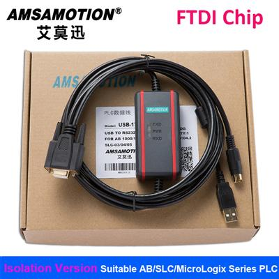 Tool Parts Suitable for AB PLC Programming Cable AB Series Data Communication Download Cable USB-1761-1747-CP3