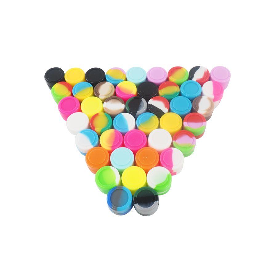 Partihandel 2ml behållare 500pcs / lot non-stick silikonburkar DAB vax silikonbehållare för dabs silikonbehållare
