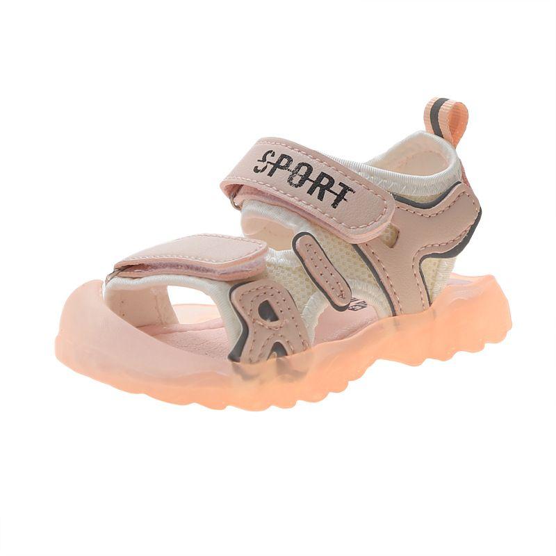 Детские сандалии 2020 лето новый Корейский мальчиков пляж обувь Баотоу Мягкие Bottom Non-Slip Детские спортивные сандалии
