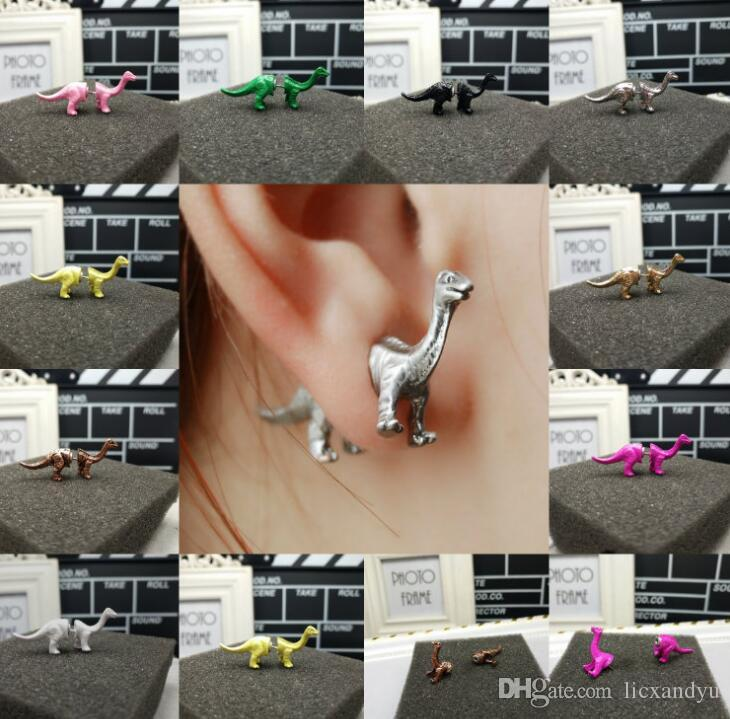 Fashion new Harajuku perspective exaggerated earrings large Dinosaur earrings fashion personality dangling stud earrings for man or women