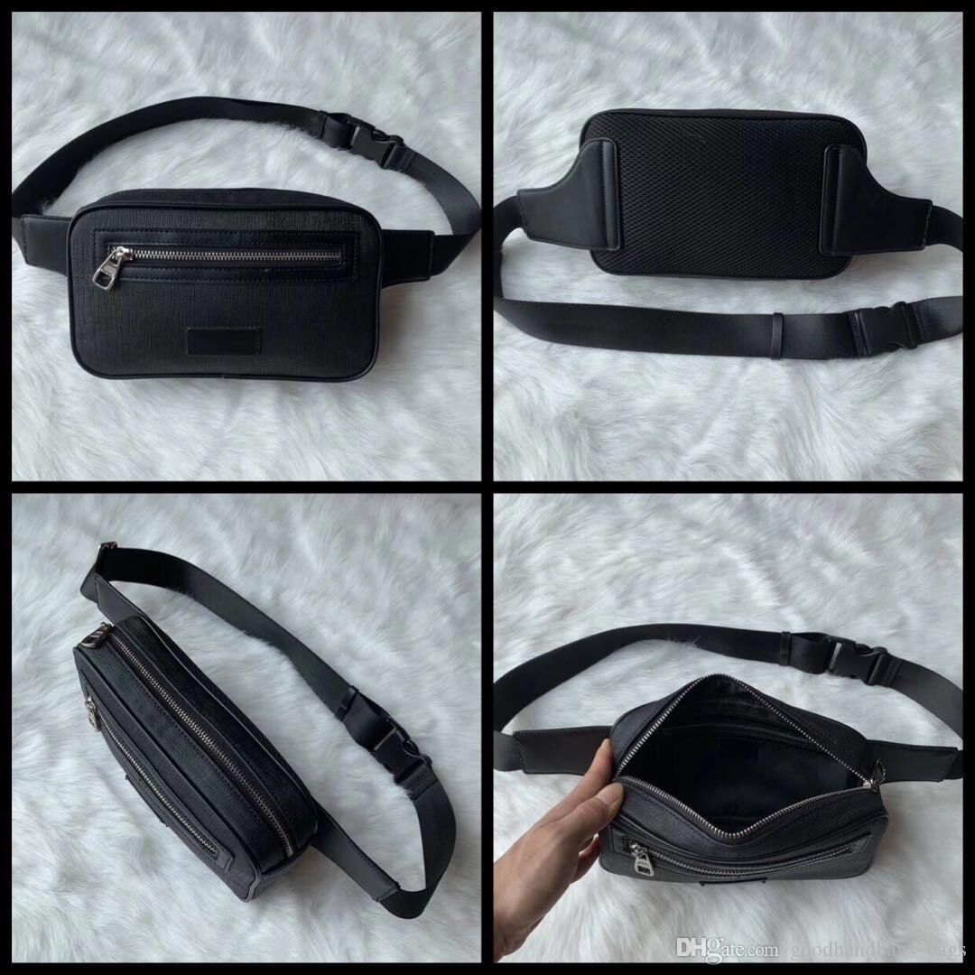 Hot Sale Waist Bags Men Women Leather Sport Runner Fanny Pack Belly Waist Bum Bag Fitness Running Belt Jogging Pouch Back Grid Bags #51888