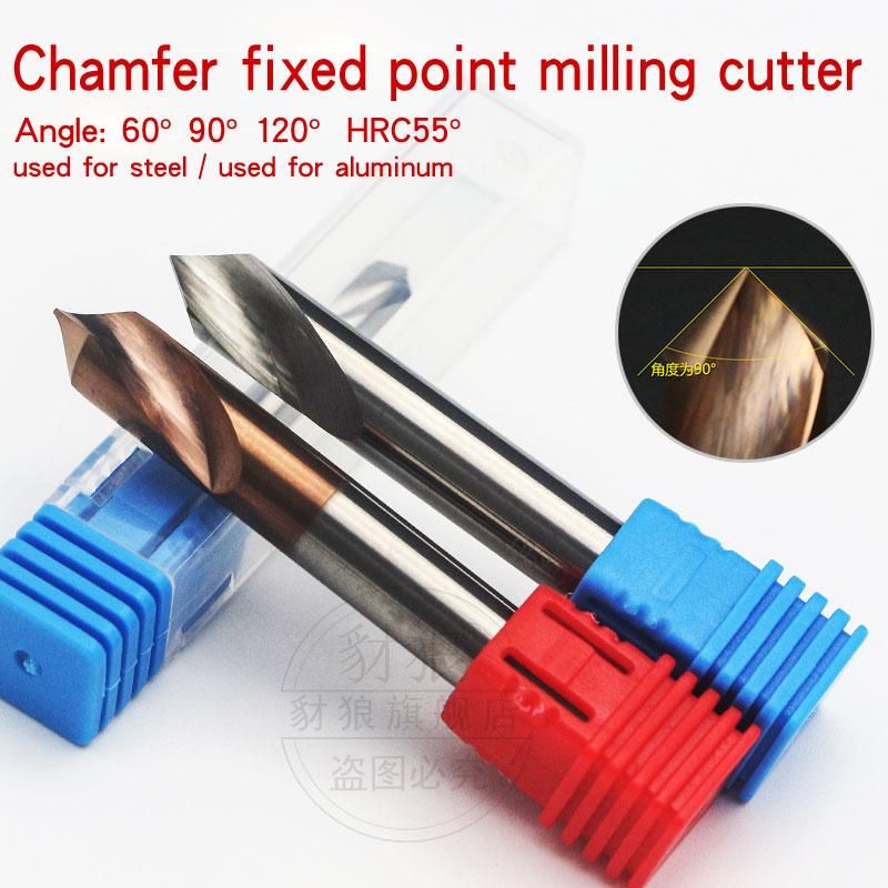 90 degrees Tungsten steel coating Cemented carbide centering drill Hardened positioning drill CNC Chamfer milling cutter 1-12