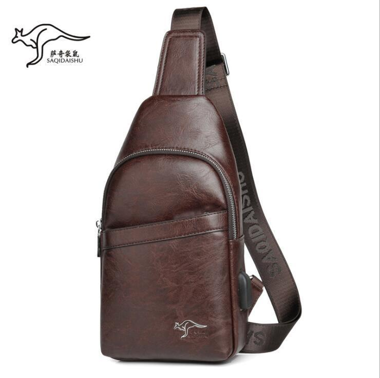men handbag new leather business men shoulder bag waterproof wear-resistant outdoor leisure leather cycling bag simple leather fashion bag