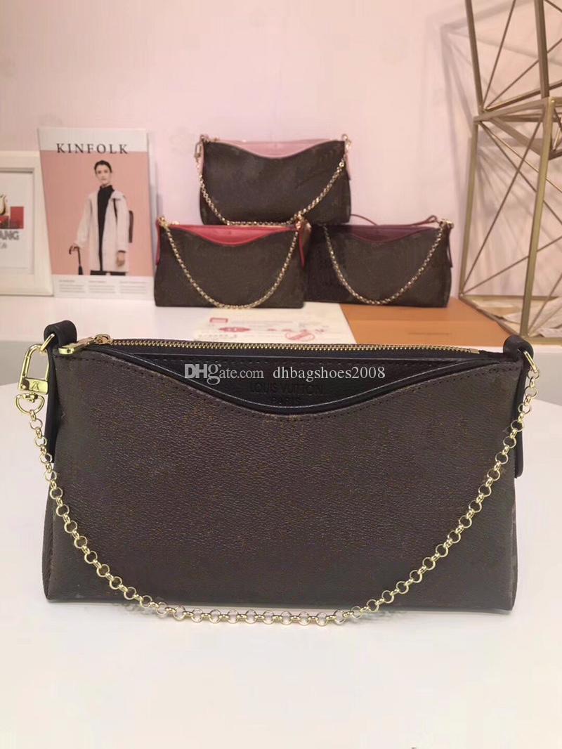 جودة عالية نمط أزياء المرأة سلسلة حقائب الكتف لطيف نمط الجلود + حقيبة كروسبودي قماش للسيدات حجم 23.0 × 13.0 × 5.0 سم