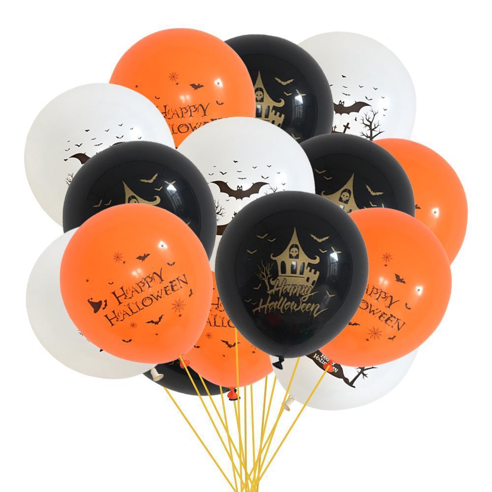15pcs / set Halloween do partido do balão dos desenhos animados látex balão inflável airballoon Globos de Baby Shower Favor Birthday Party Decor Crianças