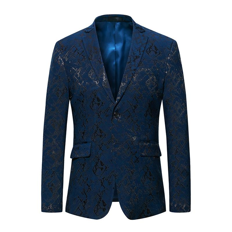 2019 New Style Mens Blazer Jacket Party Formal Blazer For Men Casual Slim Fit Blazer Male Two Buckles Casual Men Clothes 2019 T2190606