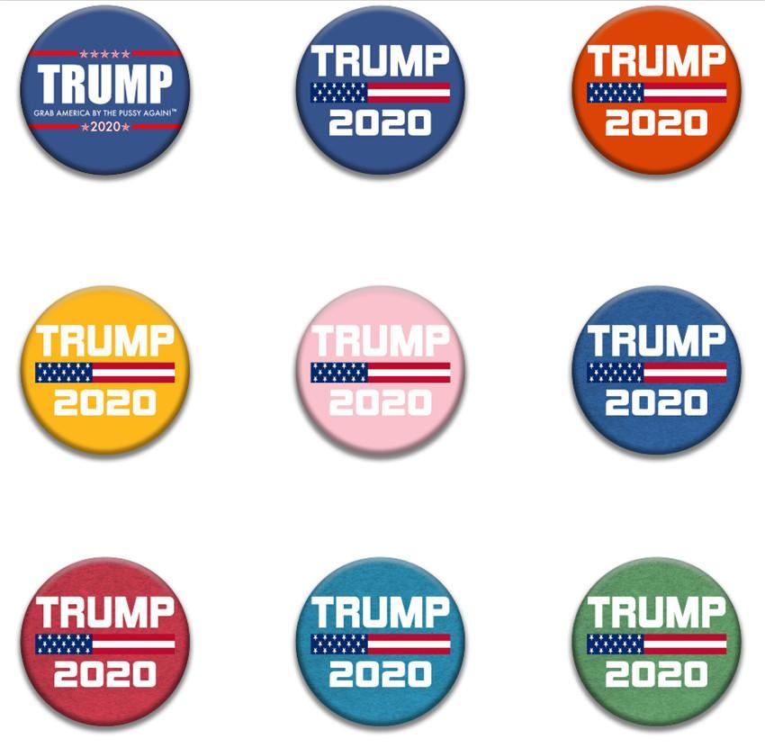 2020 Trump presidente Banner Elezione Distintivo l'America Great Again Donald Trump Elezione del bracciale del distintivo feste A05