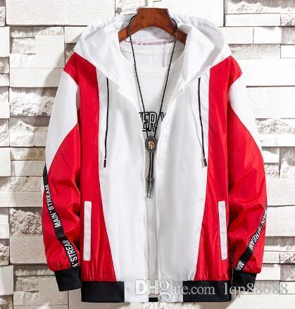 Otoño del resorte ocasional de la chaqueta de la ropa de los hombres populares versión coreana de la tendencia finas chaquetas con capucha de ropa de abrigo abrigos