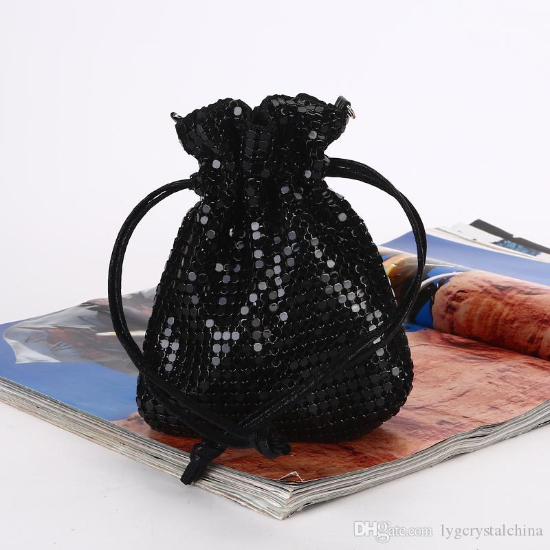 Kreative Pailletten Glück Tasche reine handgemachte Aluminiumblech Handtaschen beiläufige kleine Änderung Tasche gute Qualität für Mode Dame und Brautmode