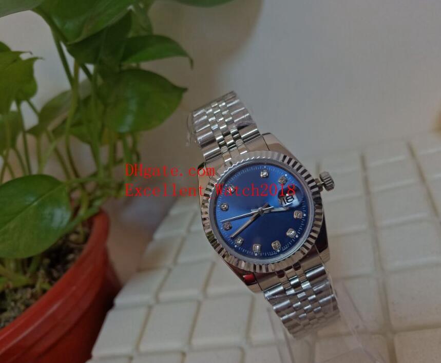 4 색 핫 판매 시계 여성 36mm 31mm 126234 278273 279173 스테인레스 스틸 다이아몬드는 아시아 2813 자동 기계 크리스마스 GIF 다이얼