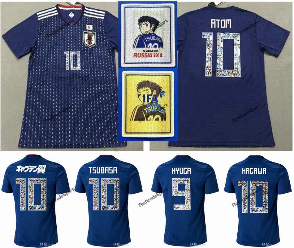 Cartoon Nummer 2018 Weltmeisterschaft Japan Fussball Jersey Kapitän Tsubasa 10 Oliver Atom Kagawa Endo 9 Hyuga Nagatomo Kamamoto benutzerdefinierte Name
