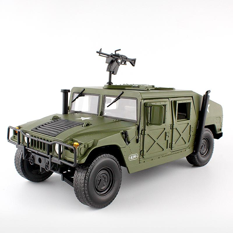 Alloy Diecast For Hummer Tactical Vehicle 1:18 Military Armored Car Diecast Model With 5 Door Opened Hobby Toy For Kids Birthday J190525