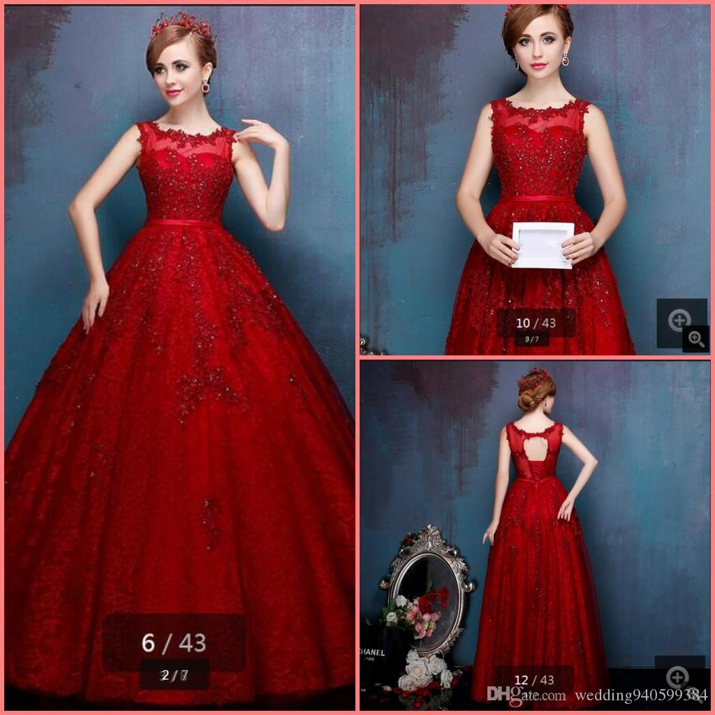 d5fcf89ad39b5 2019 New Arrival Red Ball Gown Prom Dresses Lace Appliques Beaded Elegant  Prom Dress Hollow Back Sexy Sashes Prom Gowns Party Dresses Short Prom ...