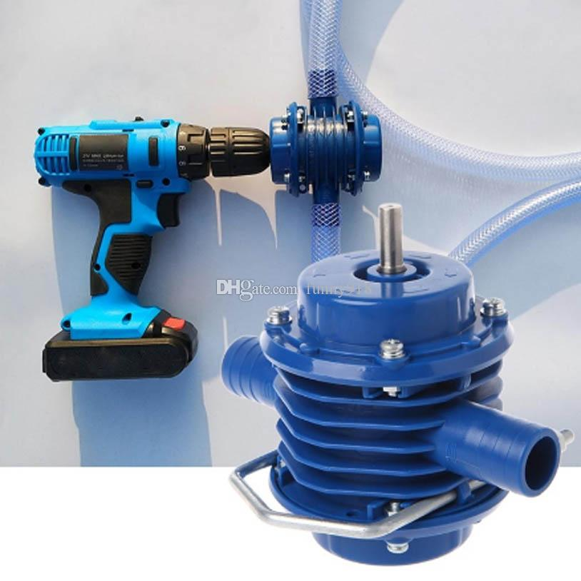 Hand Electric Drill Drive Self Priming Powered Oil Fluid Water Transfer Pump US